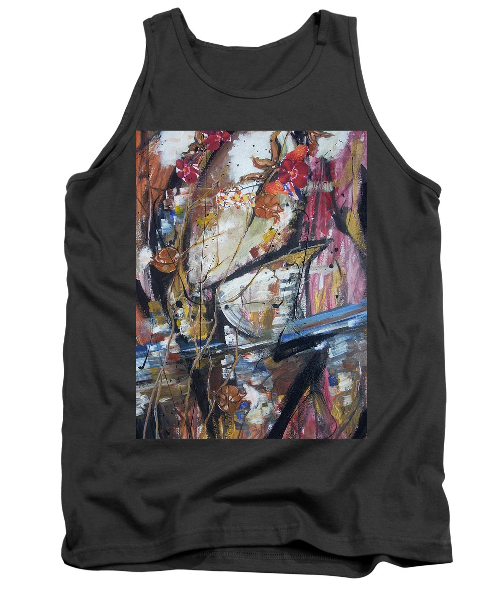 Basketball Tank Top featuring the painting Basket-boll Dreams by Hasaan Kirkland