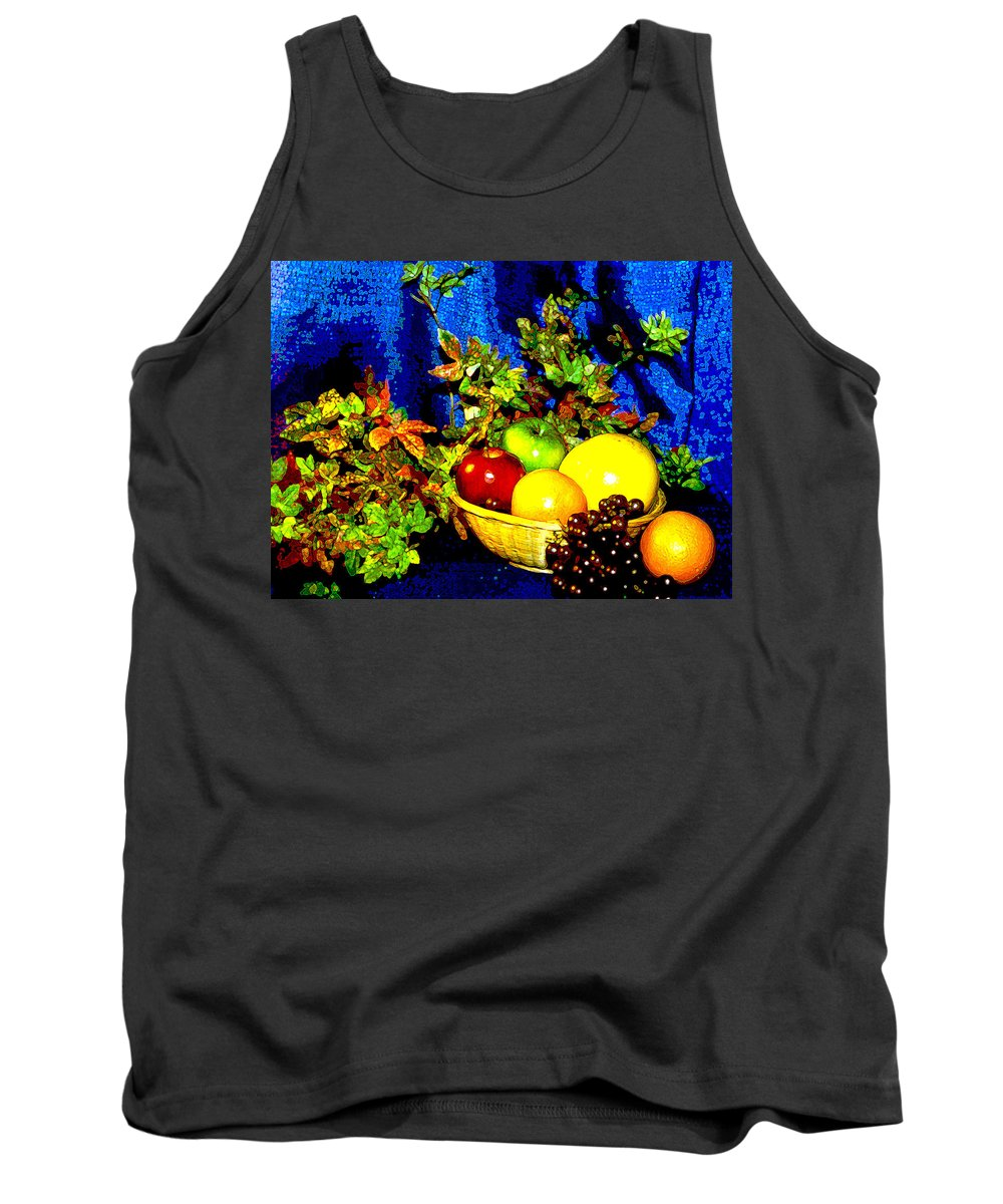 Fruit Tank Top featuring the photograph Basket With Fruit by Nancy Mueller