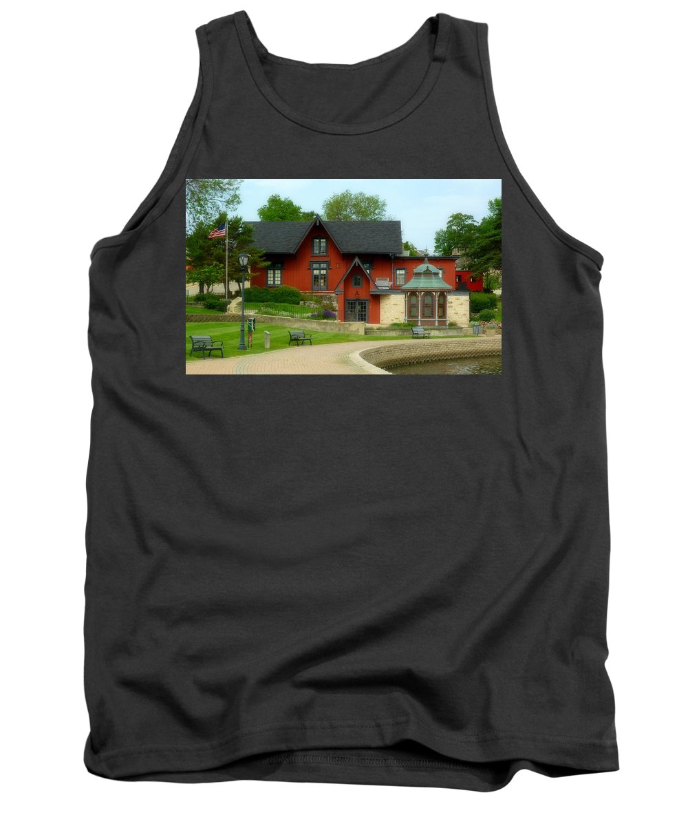 Batavia Depot Tank Top featuring the photograph Batavia Depot by Ely Arsha