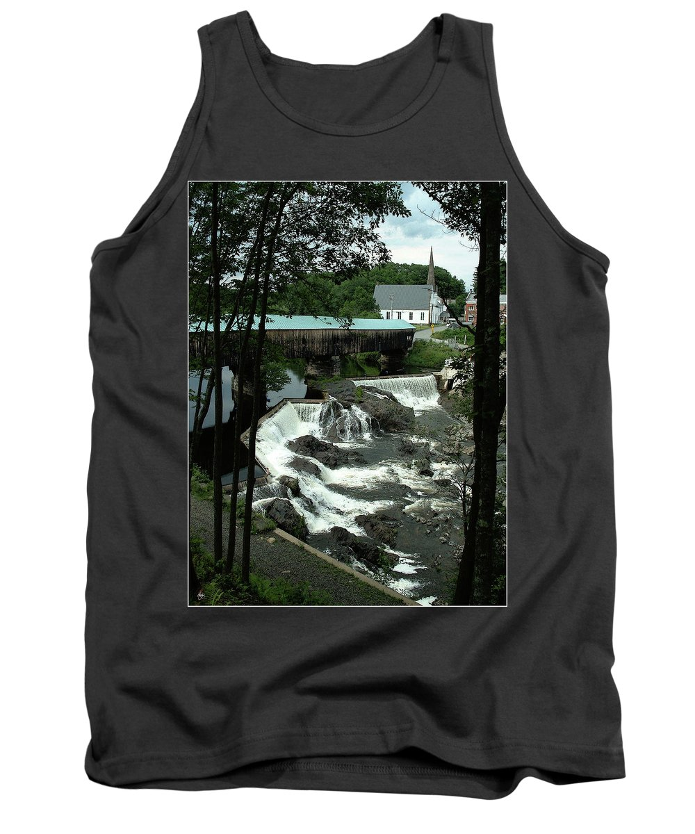Bath Tank Top featuring the photograph Bath Covered Bridge Mindscape by Wayne King