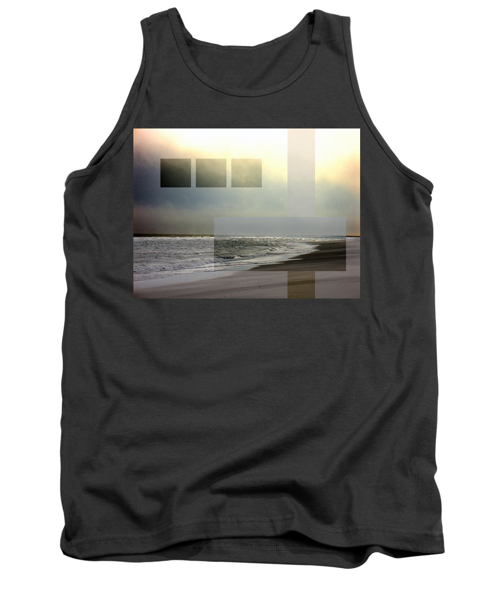 Beach Tank Top featuring the photograph Beach Collage 2 by Steve Karol