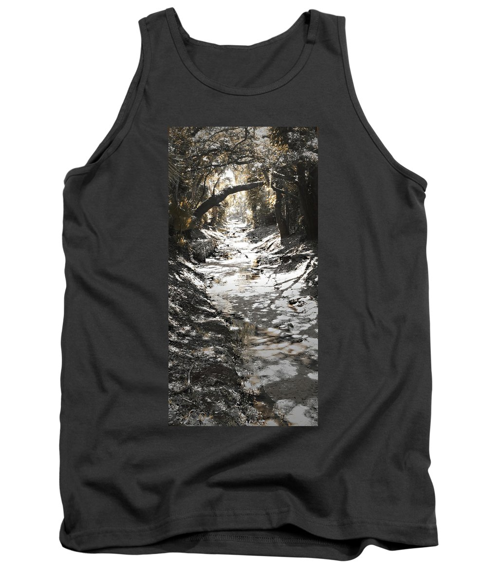 Photo Art Tank Top featuring the photograph Beach Park Storm Drain by Steve Sperry