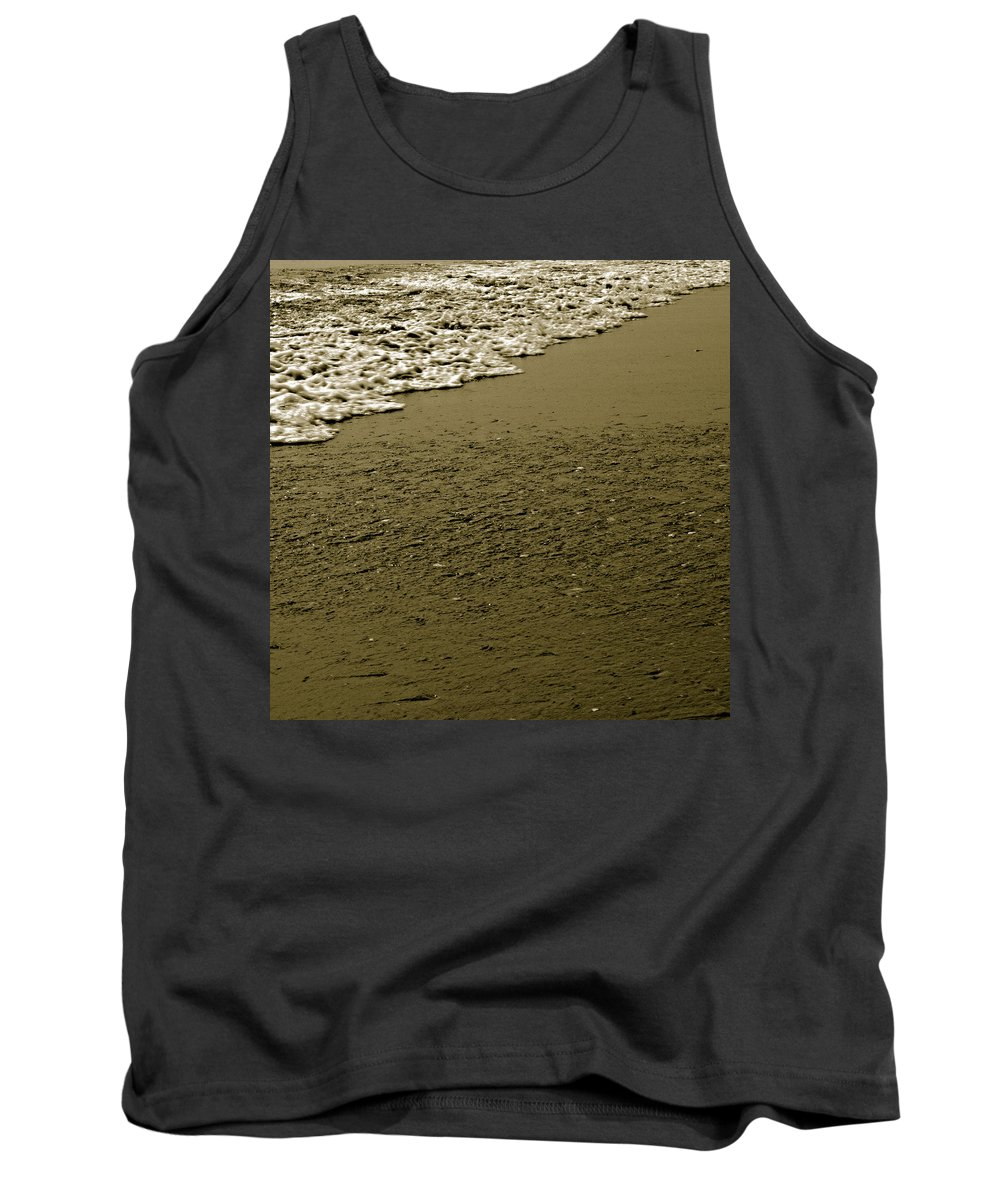 Water Tank Top featuring the photograph Beach Texture by Jean Macaluso