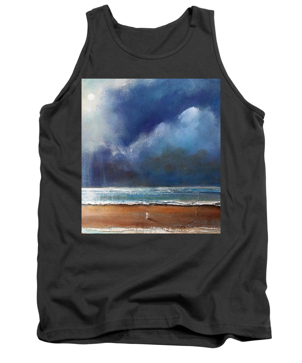 Night Tank Top featuring the painting Beach Wish by Toni Grote