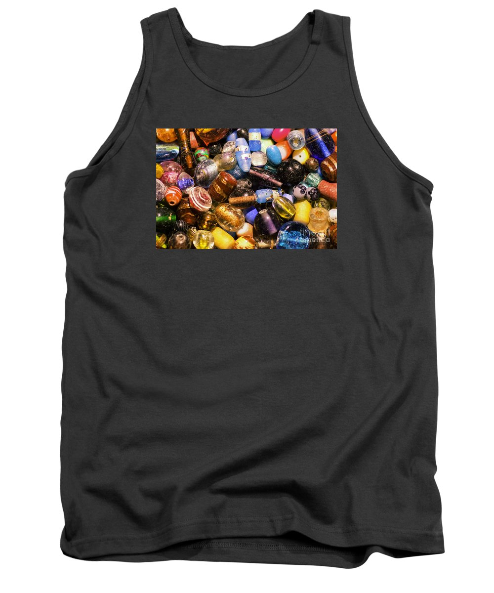 Bead Tank Top featuring the photograph Bead Pile by Joe Geraci