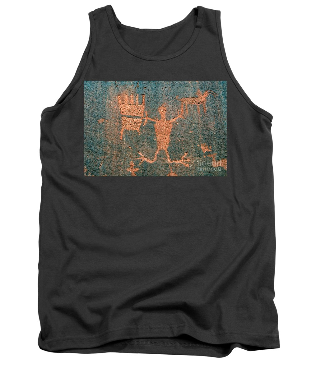 Ute Tank Top featuring the photograph Bear Clan Horse Rider by David Lee Thompson