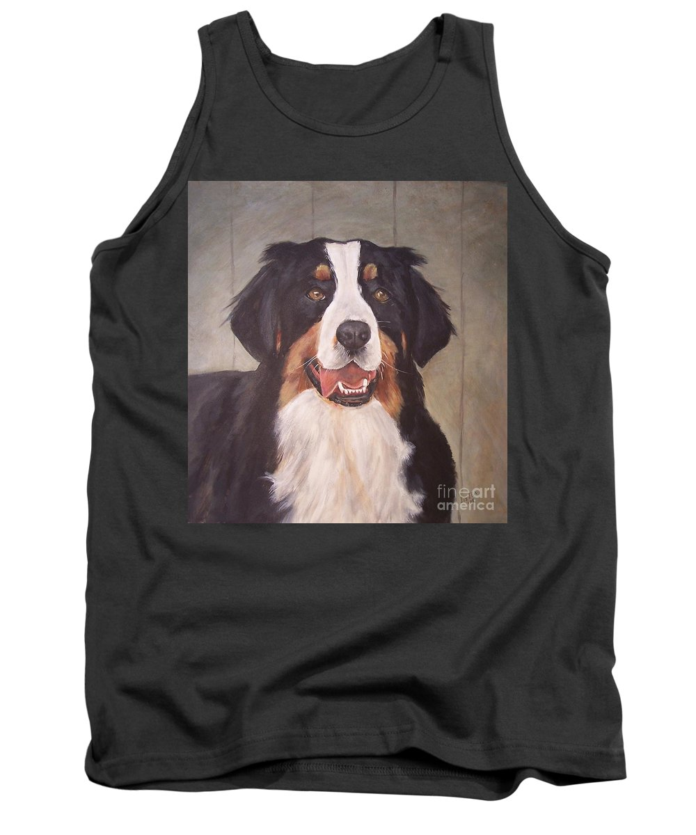 Dogs Tank Top featuring the painting Beau by Elizabeth Ellis