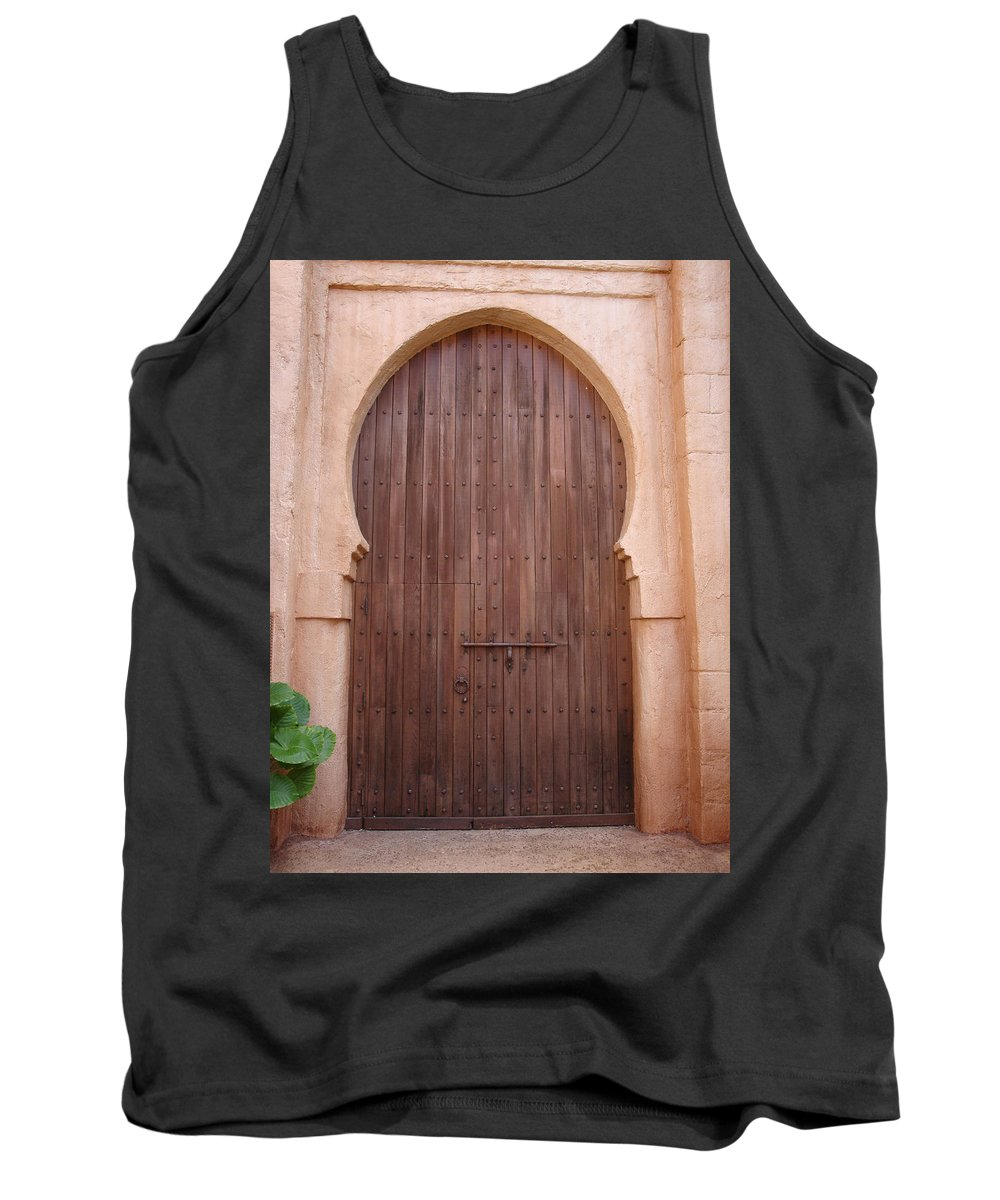 Arch Tank Top featuring the photograph Beautiful Arched Doors by Kim Chernecky
