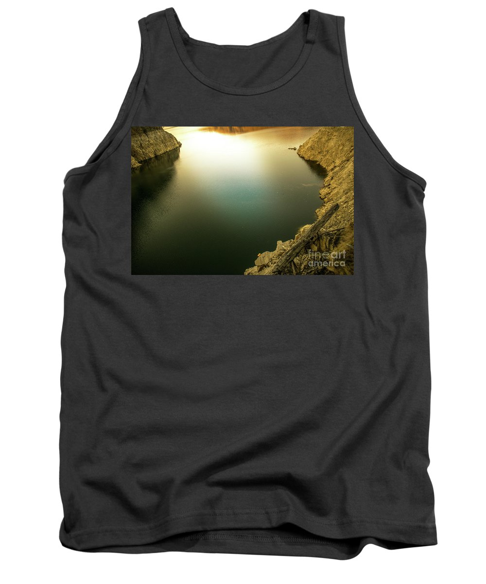 Outdoor Tank Top featuring the pyrography Beautiful Lake by Bucsan Alexandru