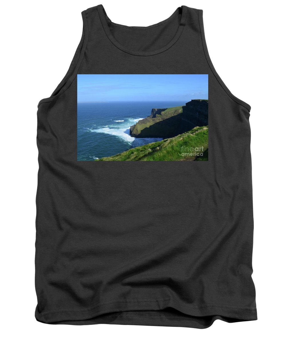 Cliffs-of-moher Tank Top featuring the photograph Beautiful Sweeping Views Of Ireland's Cliff's Of Moher by DejaVu Designs
