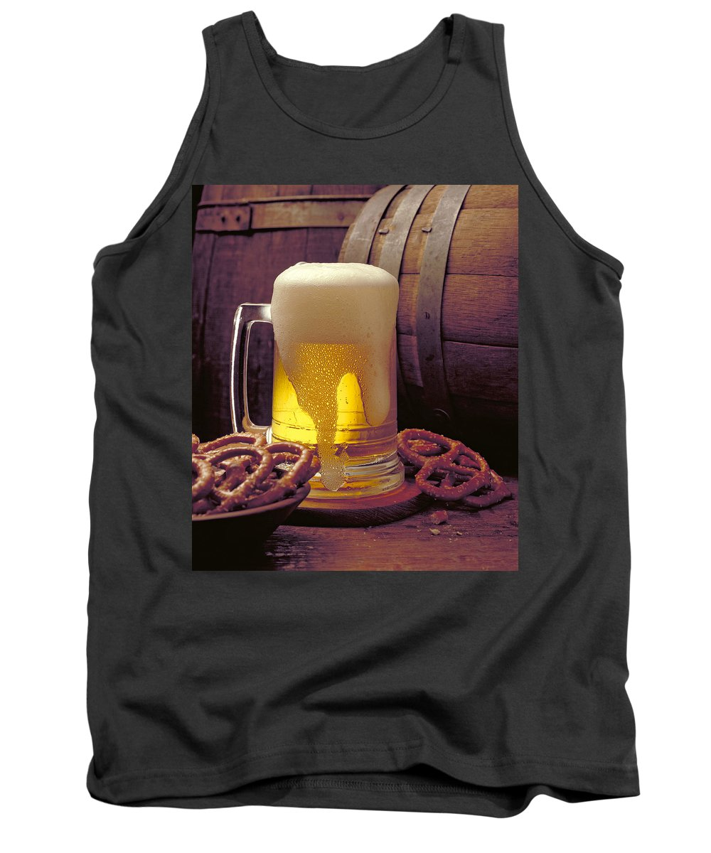 Beer Tank Top featuring the photograph Beer And Pretzels by Thomas Firak