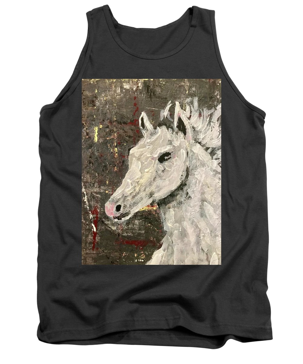 Art Tank Top featuring the painting Behold A White Horse by Edward Paul