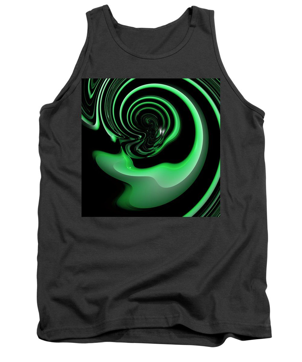 Abstract Tank Top featuring the digital art Belainting by Andrew Kotlinski