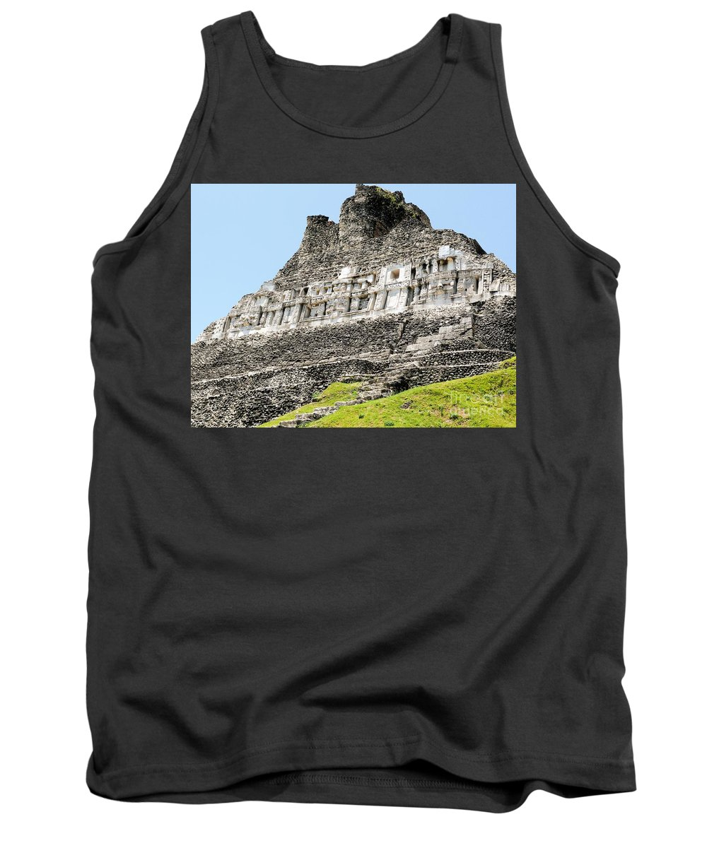 Mayan Tank Top featuring the photograph Belize Mayan Ruins by Katherine W Morse