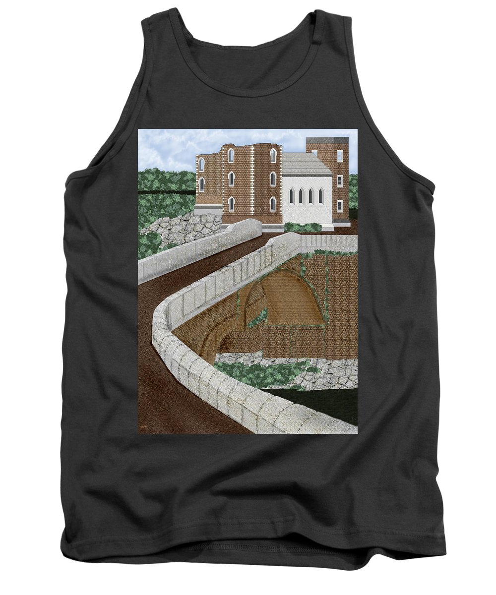 Castle Ruins Tank Top featuring the painting Beloved Ruins by Anne Norskog