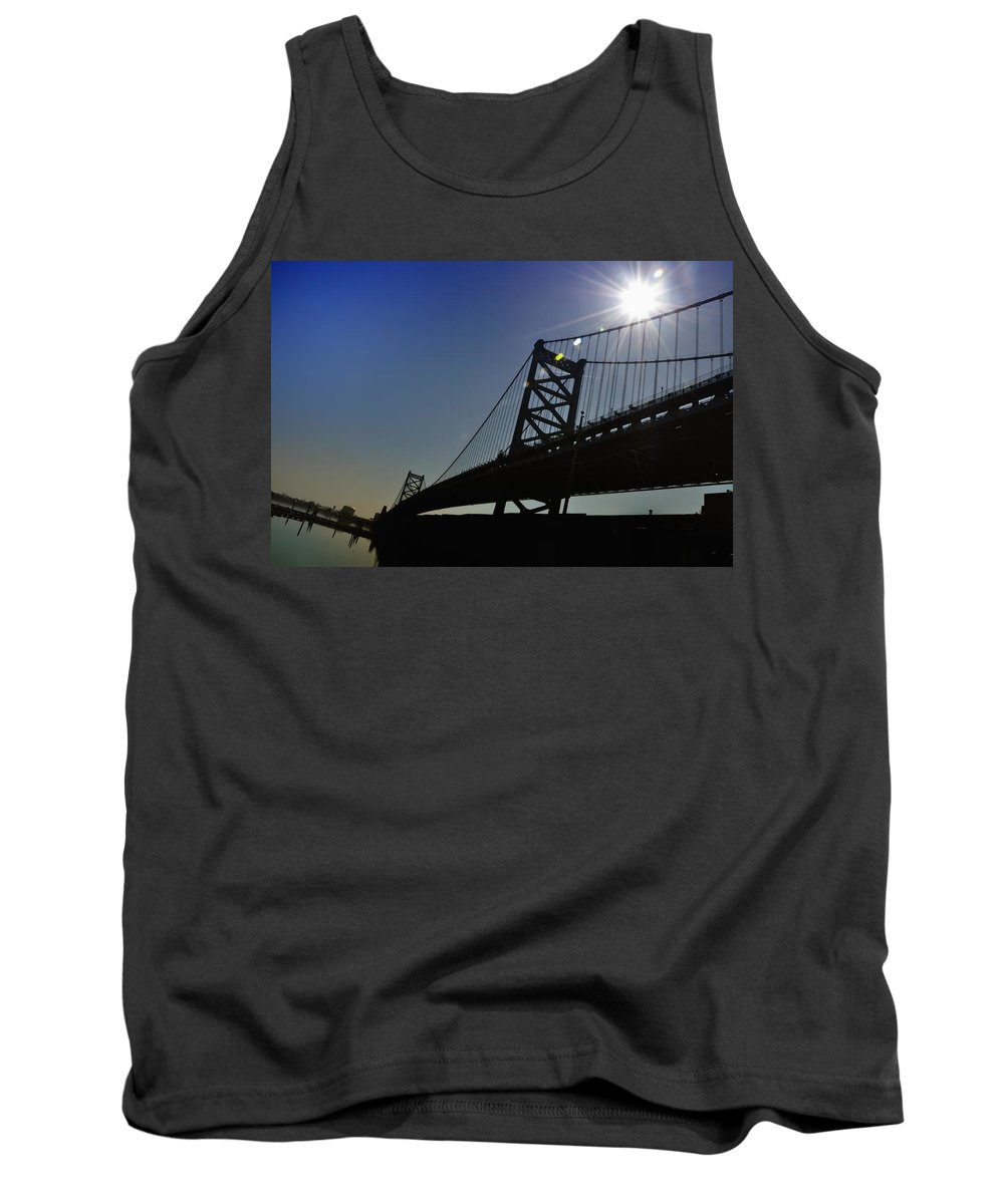 Philadelphia Tank Top featuring the photograph Ben Franklin Bridge 2 by Bill Cannon