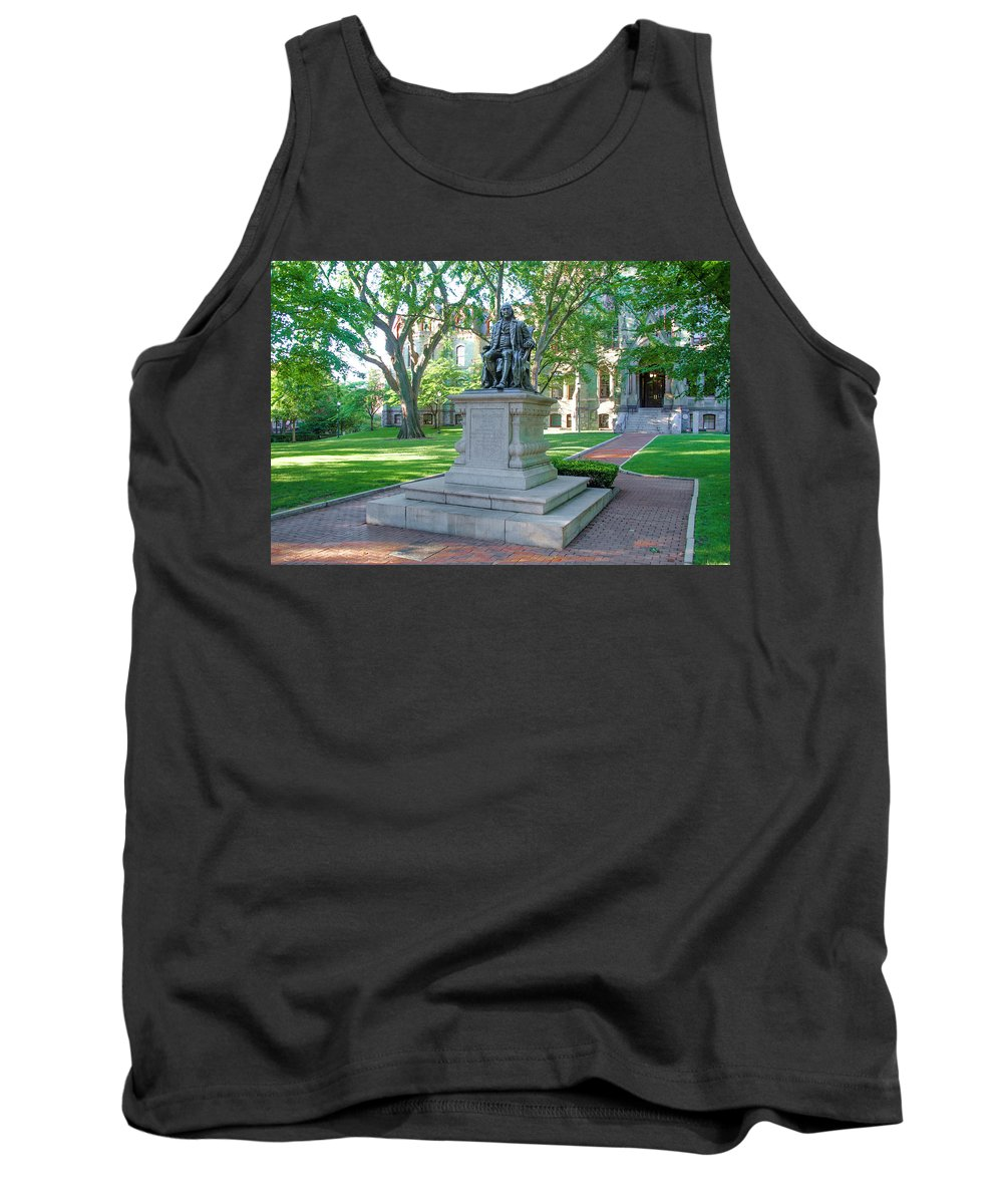Ben Tank Top featuring the photograph Ben Franklin - Upenn by Bill Cannon