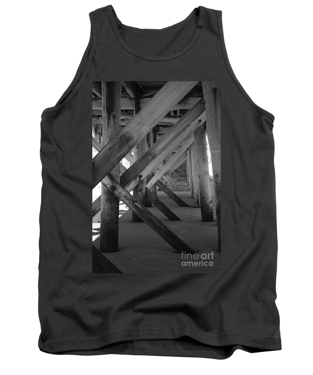 Tank Top featuring the photograph Beneath The Docks Day by Jamie Lynn