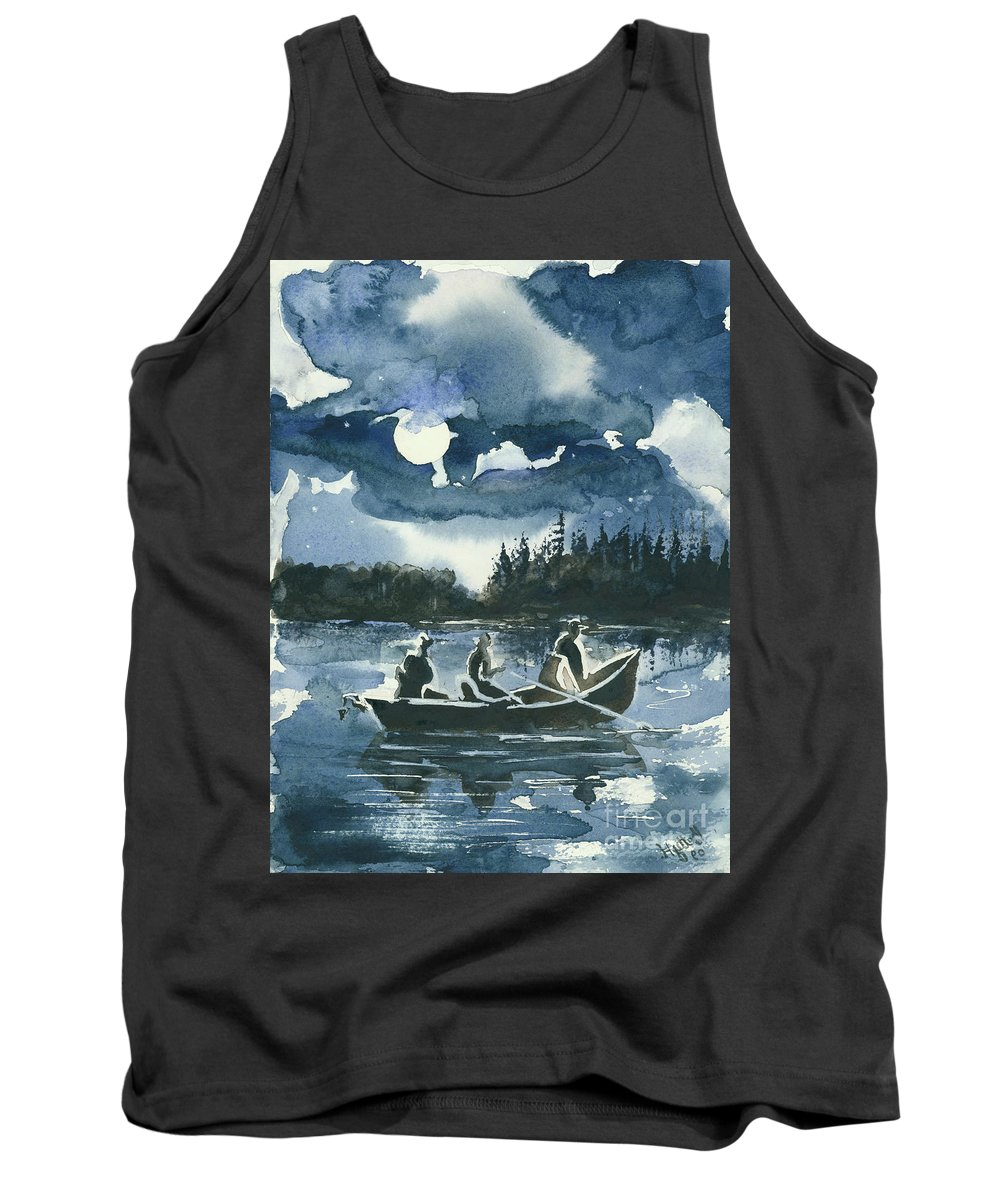 Watercolor Tank Top featuring the painting Beneath The Stars by Elisabeta Hermann