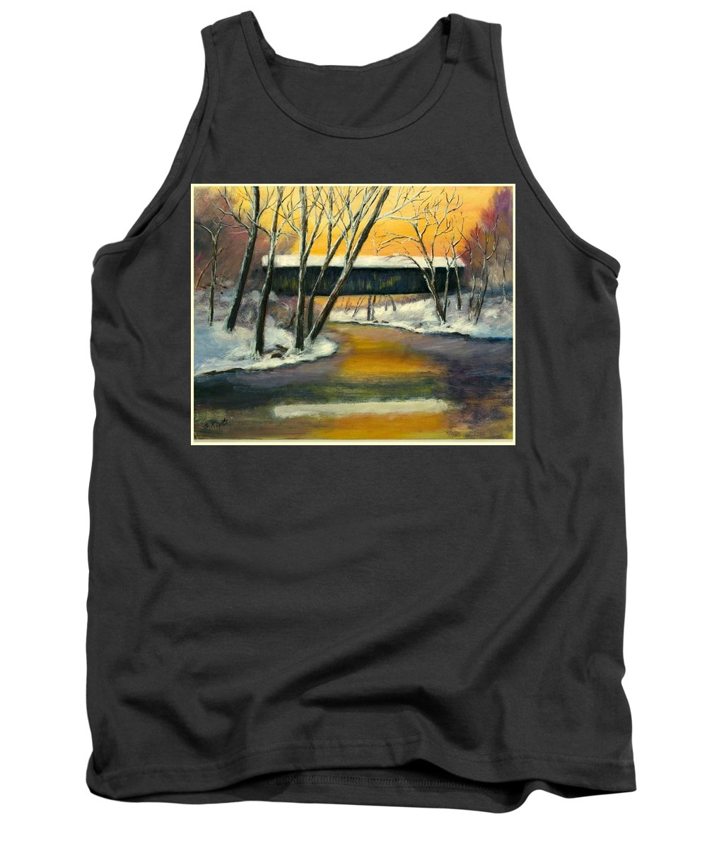 Kentucky Tank Top featuring the painting Bennett by Gail Kirtz