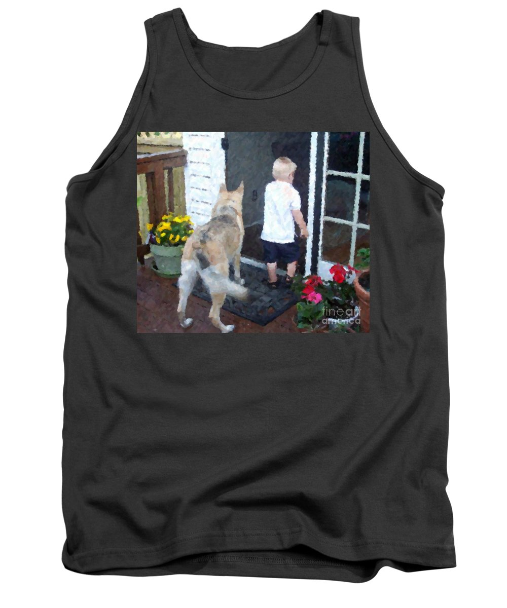 Dogs Tank Top featuring the photograph Best Friends by Debbi Granruth