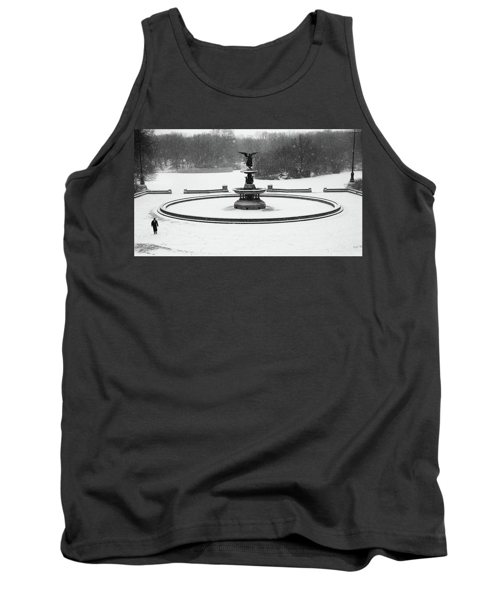 Bethesda Fountain Tank Top featuring the photograph Bethesda- Angel Of The Waters by George Kunze