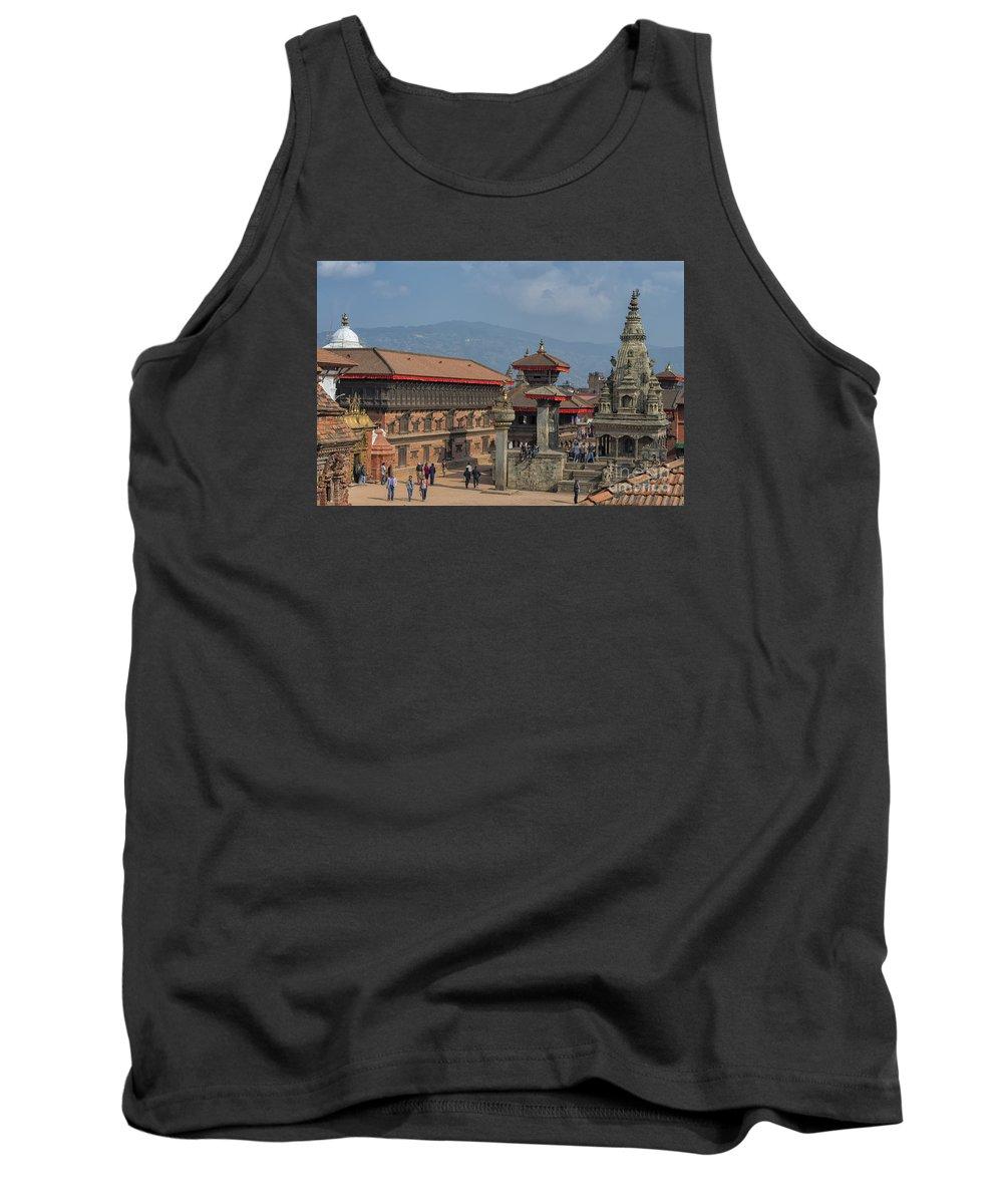 Kathmandu Valley Tank Top featuring the photograph Bhaktapur Durbar Square In Kathmandu Valley, Nepal by Ivan Batinic