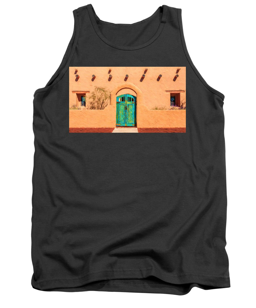 Mesilla Tank Top featuring the photograph Bienvenido A Casa by Susan Rissi Tregoning