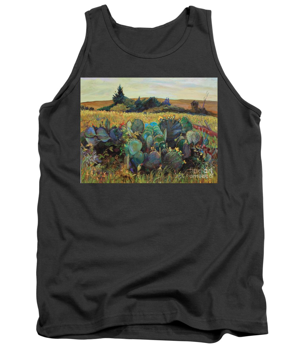 Cactus Tank Top featuring the painting Big Family by Maris Salmins