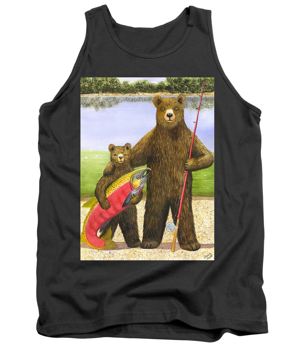 Bear Tank Top featuring the painting Big Fish by Catherine G McElroy