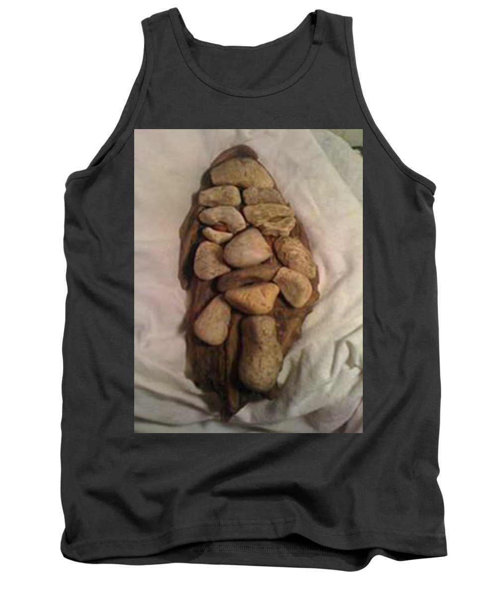 Gravel On Driftwood Tank Top featuring the photograph Big Foot by Vincent Easley