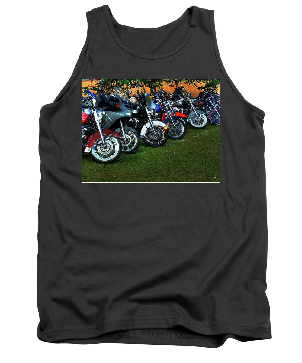 Motorcycle Tank Top featuring the photograph Big Wheels At Laconia by Wayne King