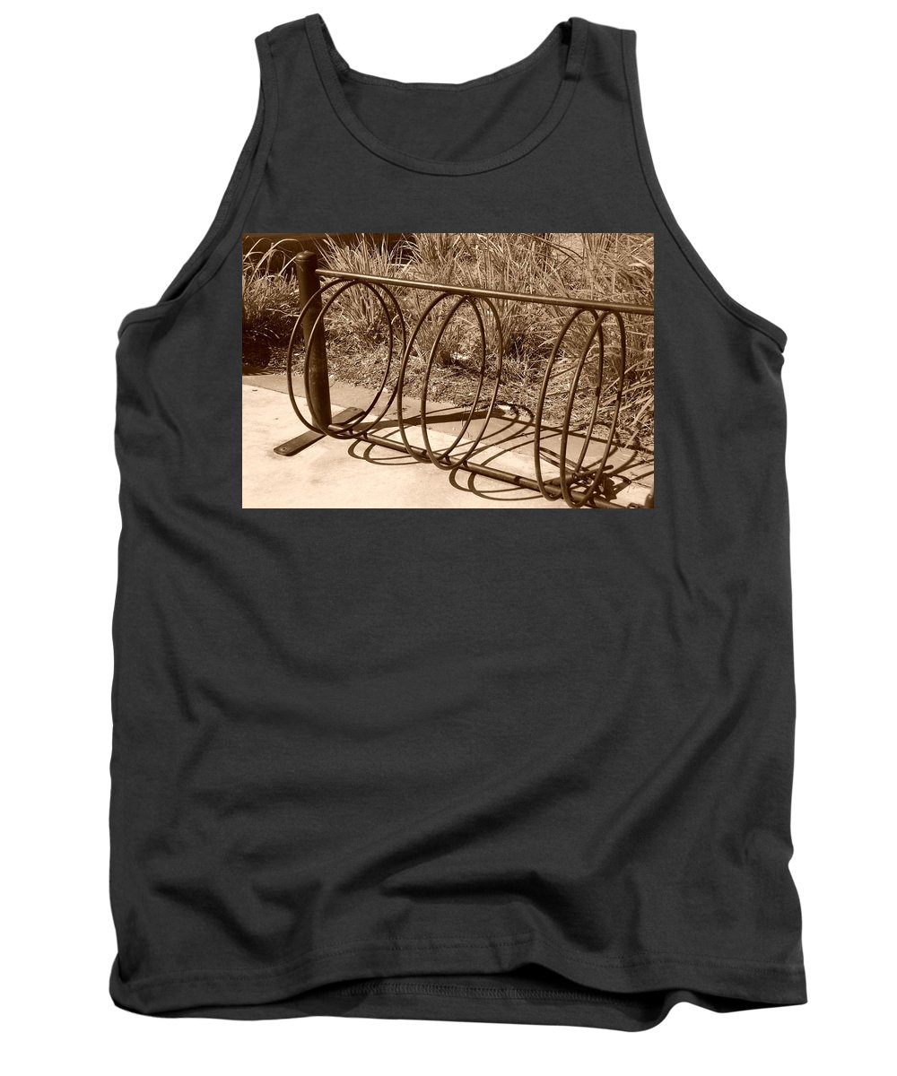 Bicycle Tank Top featuring the photograph Bike Rack by Rob Hans