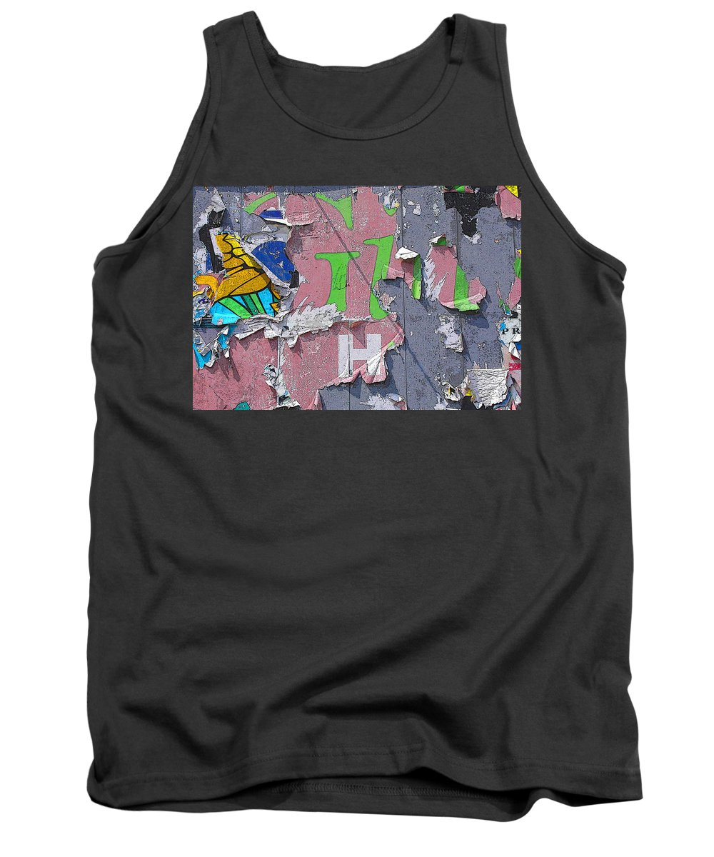 Abstract Tank Top featuring the painting Billboard Abstract Butterfly by Anne Cameron Cutri