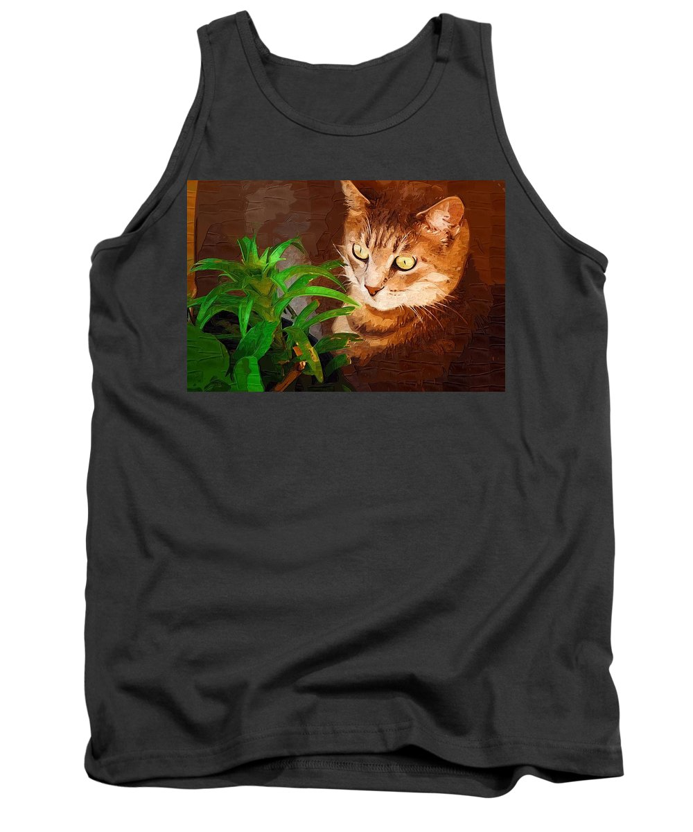 Cat Tank Top featuring the photograph Bink by Donna Bentley