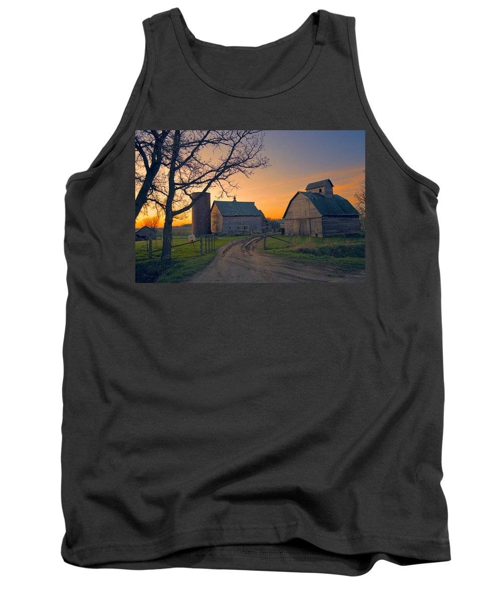 Rustic Tank Top featuring the photograph Birch Barn 2 by Bonfire Photography