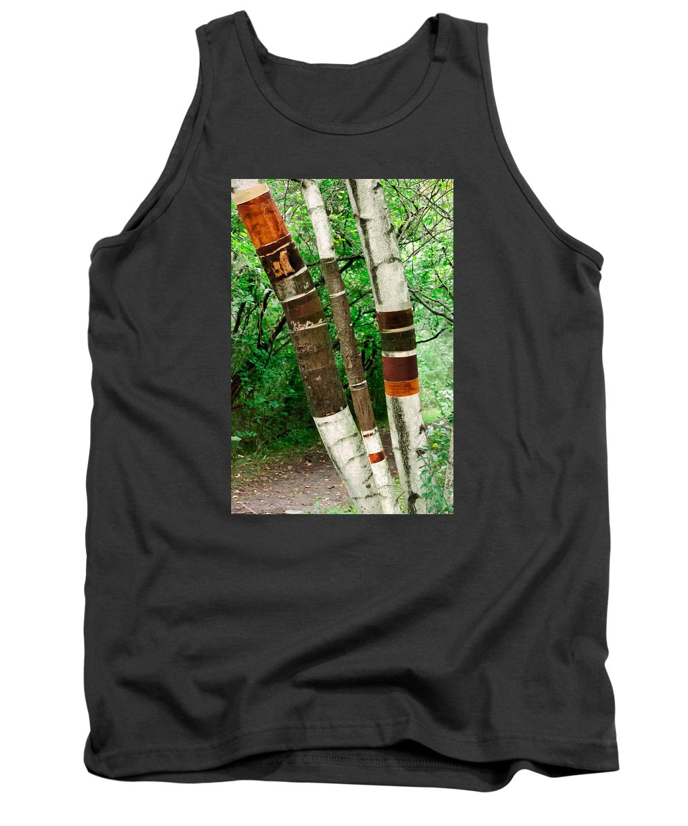 Birch Wood Tank Top featuring the photograph Birch Wood Layers by Crystal Raetzel