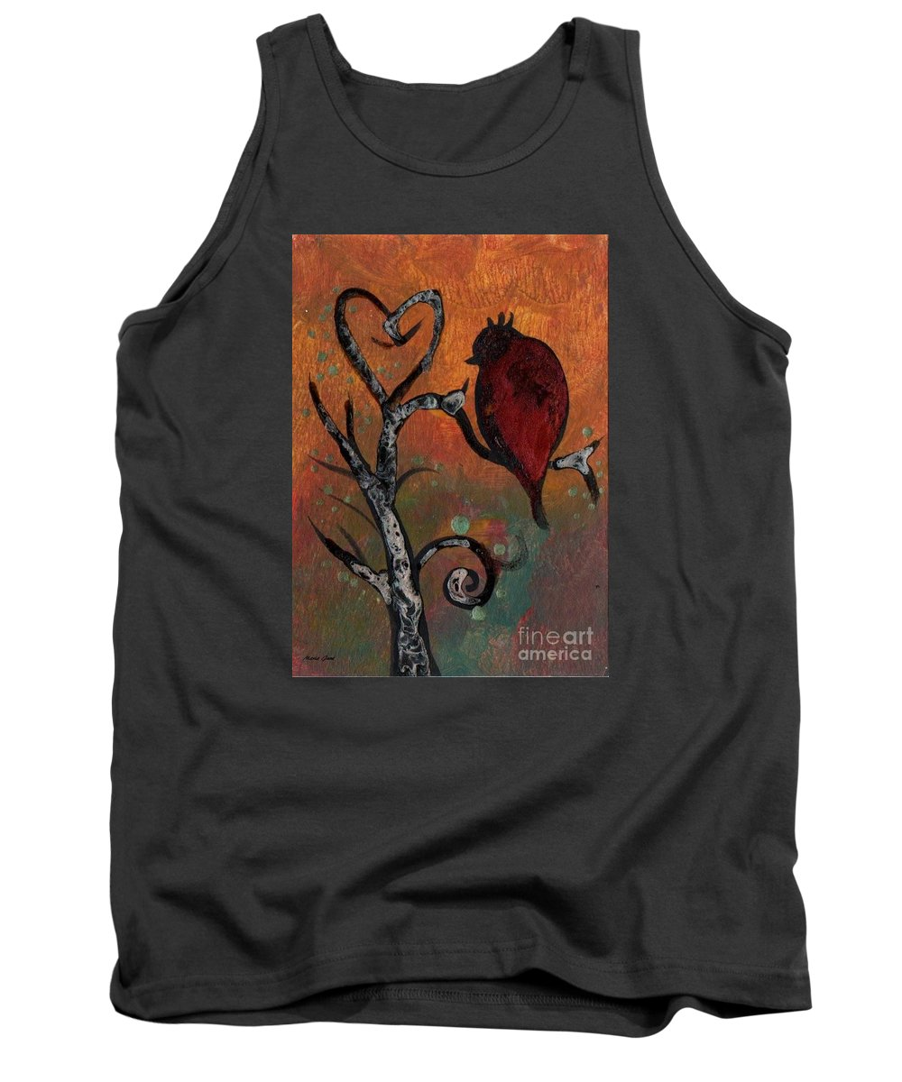 Bird Tank Top featuring the painting Bird I Wr by Mrs Wilkes Art