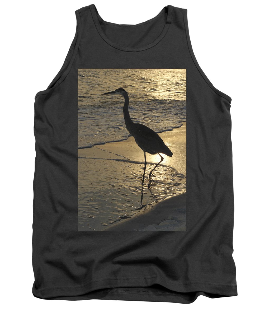 Heron Tank Top featuring the photograph Bird In Paradise by Jerry McElroy