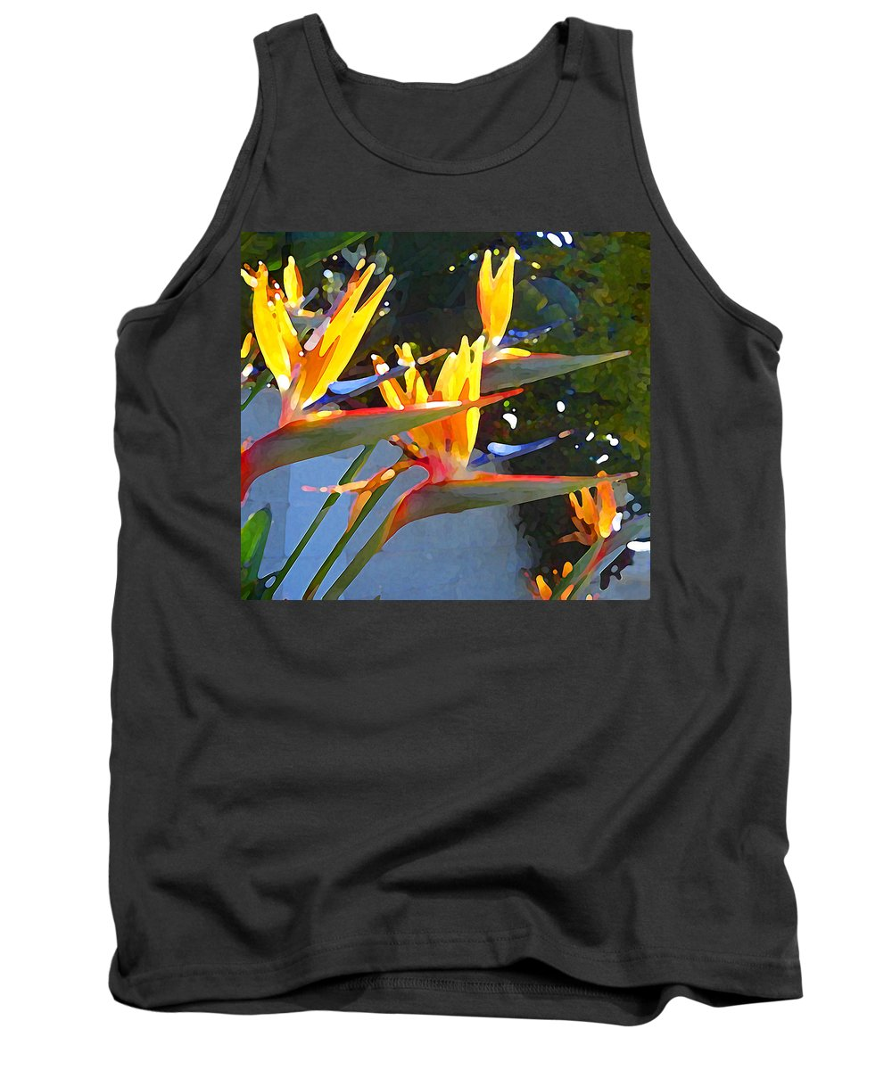 Abstract Tank Top featuring the painting Bird Of Paradise Backlit By Sun by Amy Vangsgard