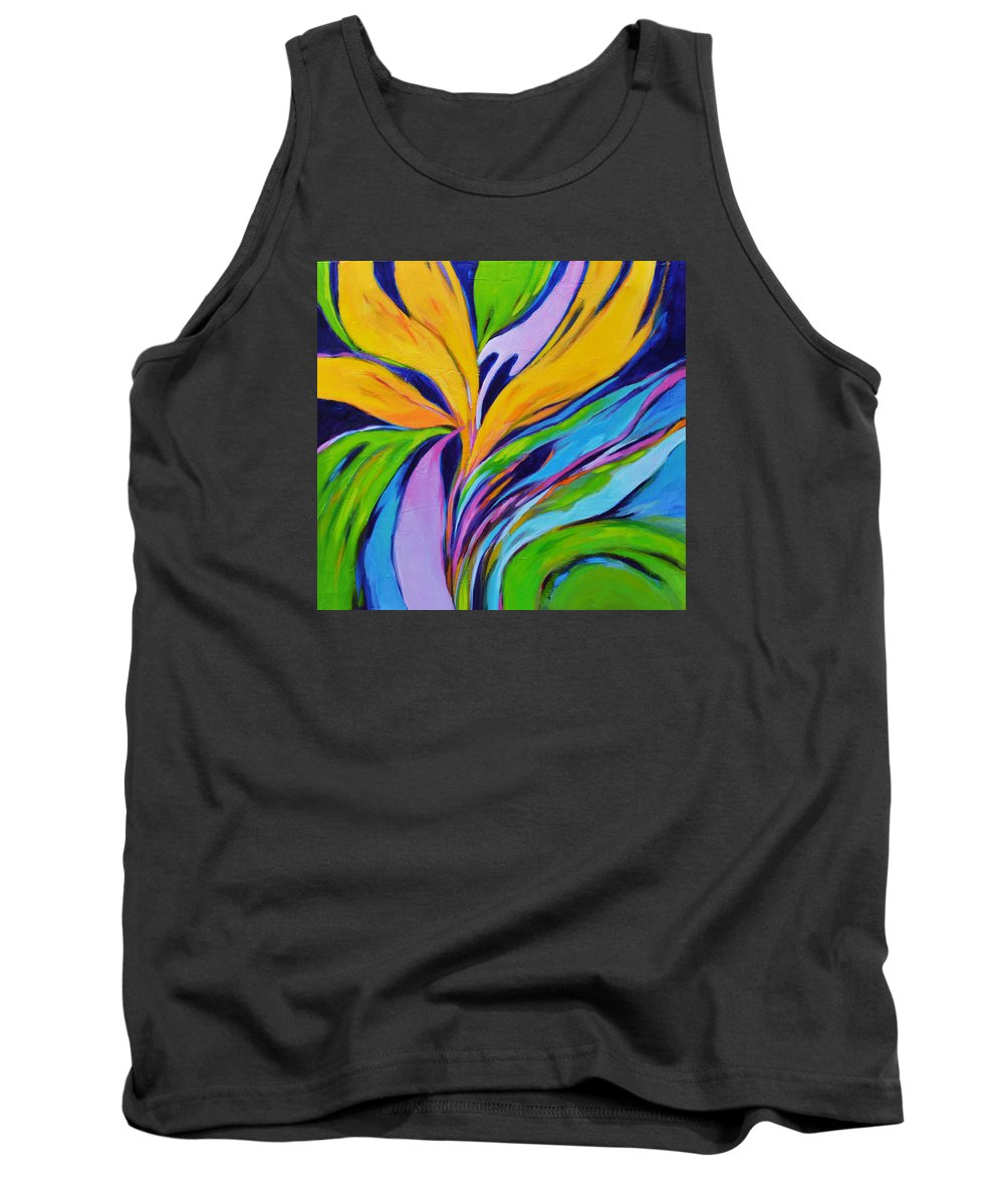 Bird Of Paradise Tank Top featuring the painting Bird Of Paradise by Filomena Booth