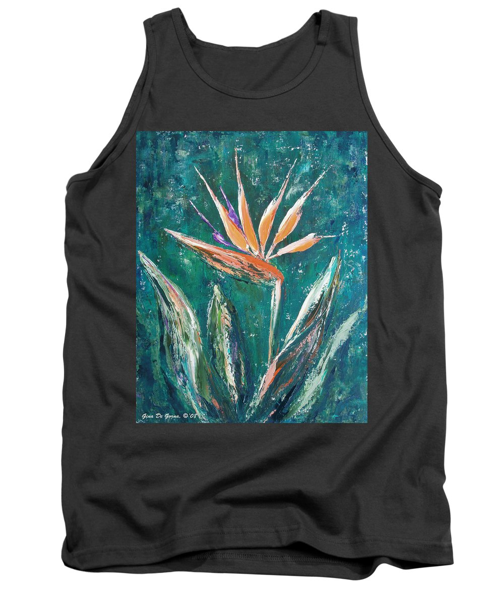 Bird Of Paradise Tank Top featuring the painting Bird Of Paradise by Gina De Gorna