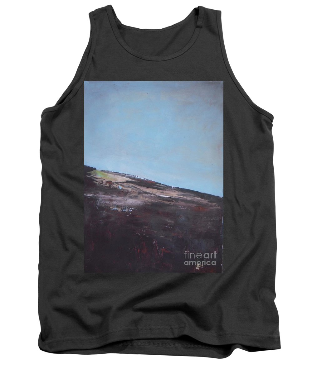 Landscape Tank Top featuring the painting Bird Perspective by Vesna Antic