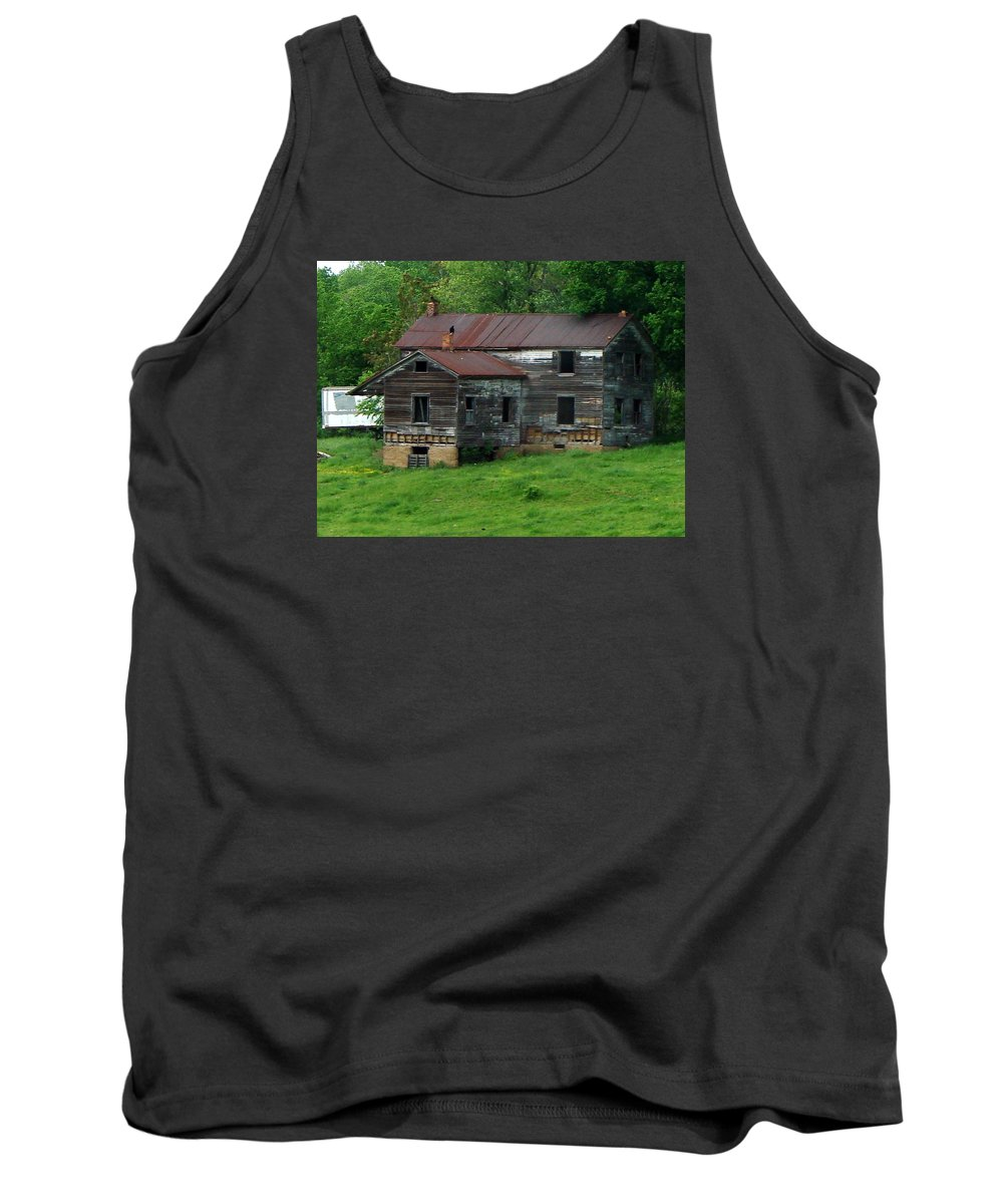 Oldhouse Tank Top featuring the photograph Birds On Chimneys by J R  Seymour