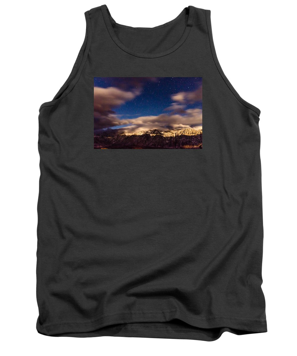 Mountains Tank Top featuring the photograph Bishop Night by Kevin Beggs