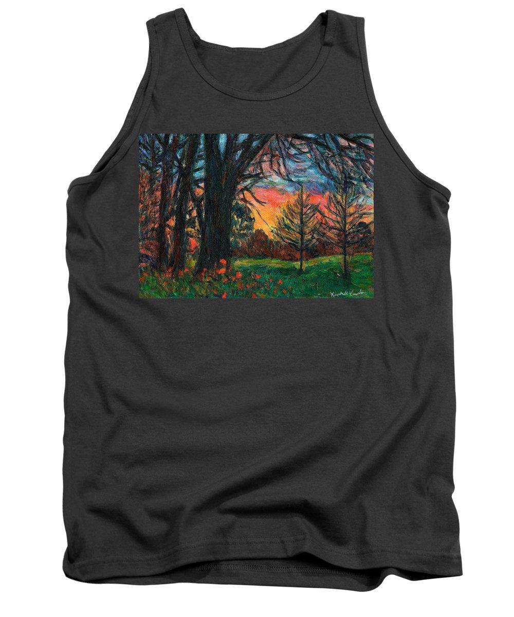 Landscape Tank Top featuring the painting Bisset Park Sunrise by Kendall Kessler