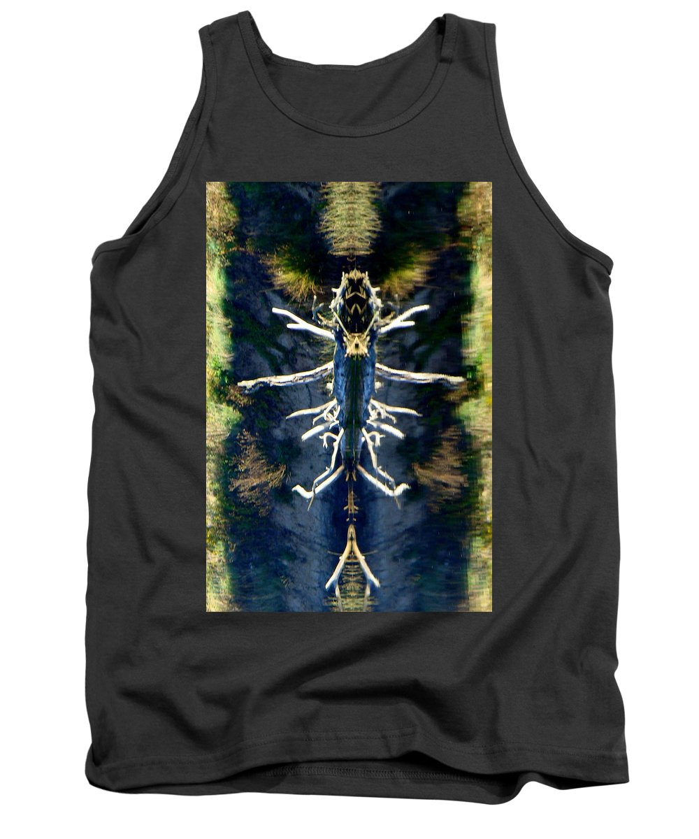 Abstract Landscape Tank Top featuring the photograph Bitsy Bug by Ronna Wilson