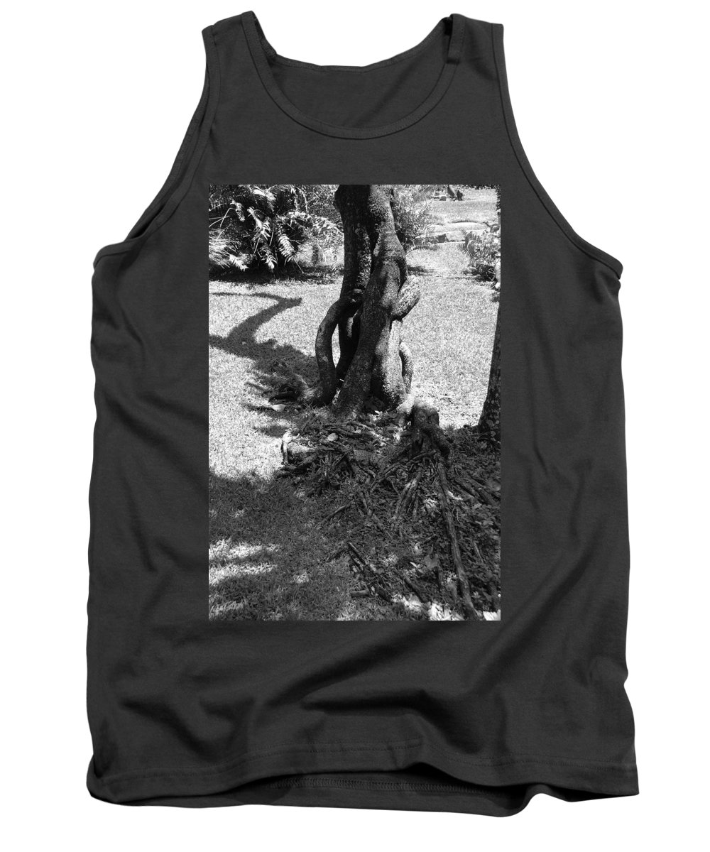 Black And White Tank Top featuring the photograph Black And White Roots by Rob Hans