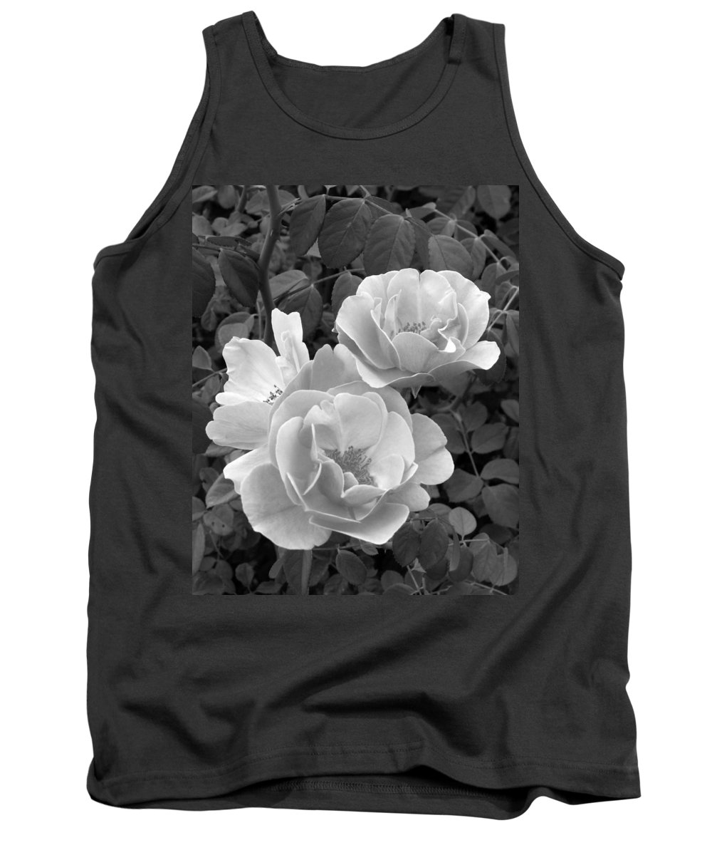 Rose Tank Top featuring the photograph Black And White Roses 1 by Amy Fose