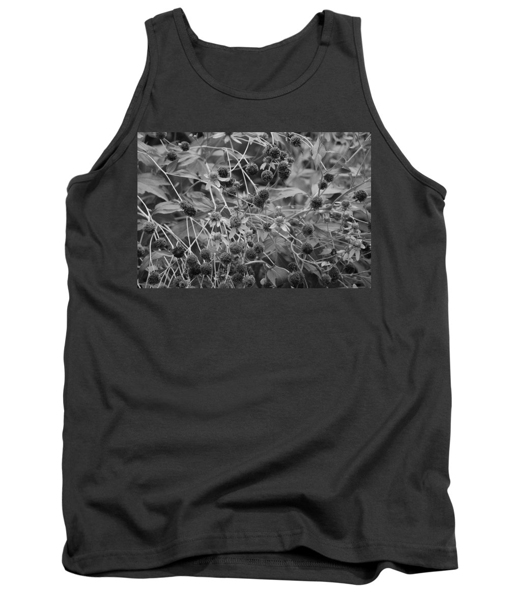 Black And White Tank Top featuring the photograph Black And White Sun Flowers by Rob Hans